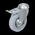 Колесо аппаратное поворотное с тормозом крепление под болт